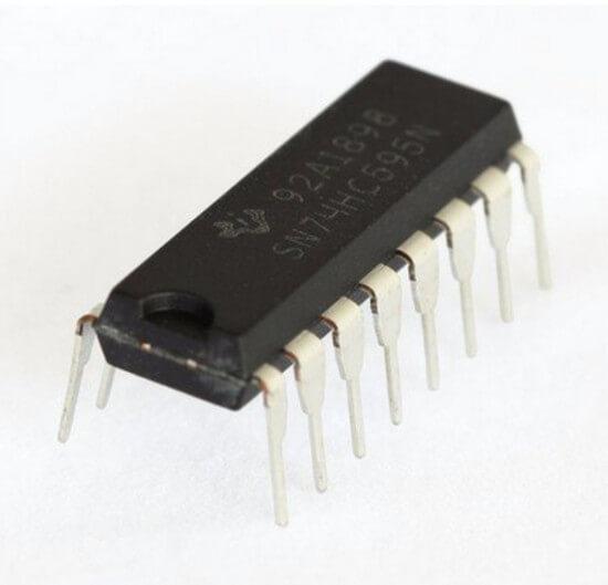 CI 74HC595 Registrador de Deslocamento