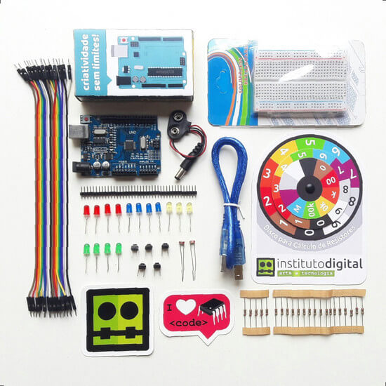 Kit Uno R3 Iniciante + Banner