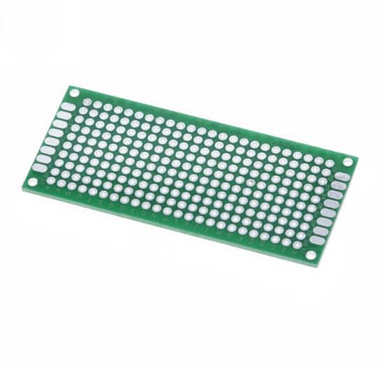 Placa de Circuito Impresso Ilhada Fibra Vidro - 3x7 cm