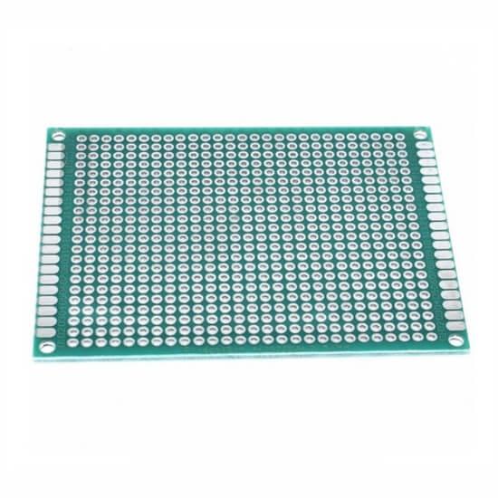 Placa de Circuito Impresso Ilhada de Fibra de Vidro - 6x8cm