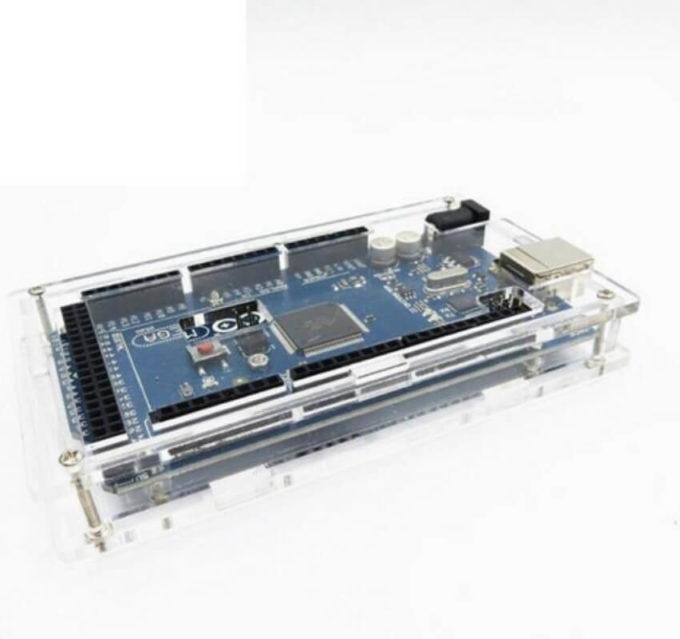 Case Box para Arduino Mega em Acrílico Transparente