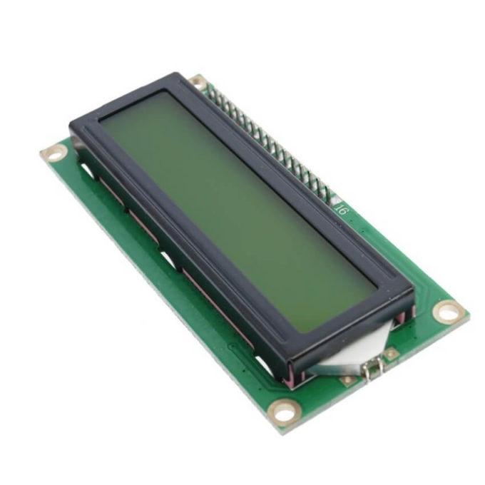 Display LCD 16x2 com Backlight Amarelo/Verde