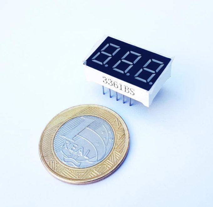 Display Led 7 segmentos 3 Dígitos 0.36 - Anodo Comum