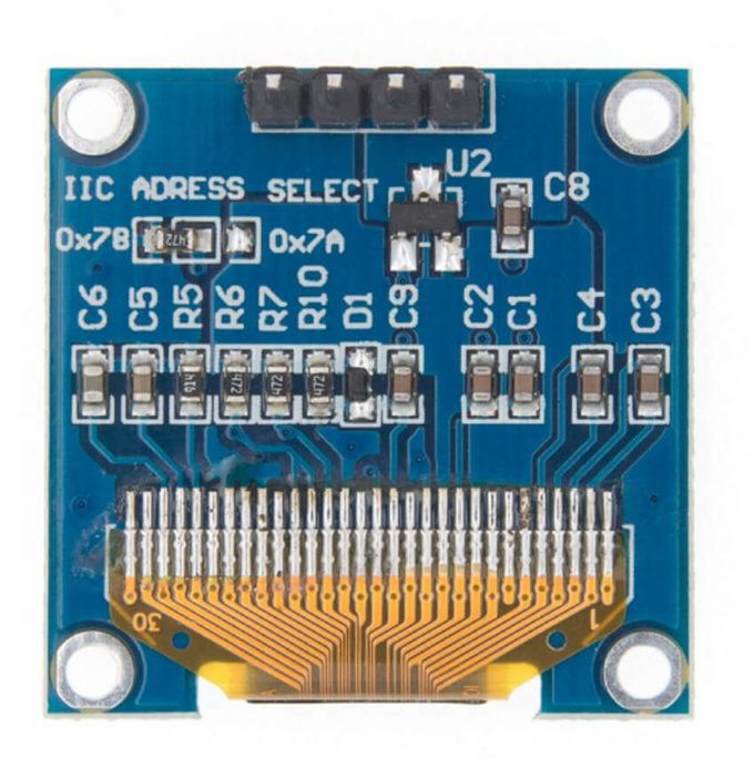 Display OLED 0.96″ I2C Azul Amarelo
