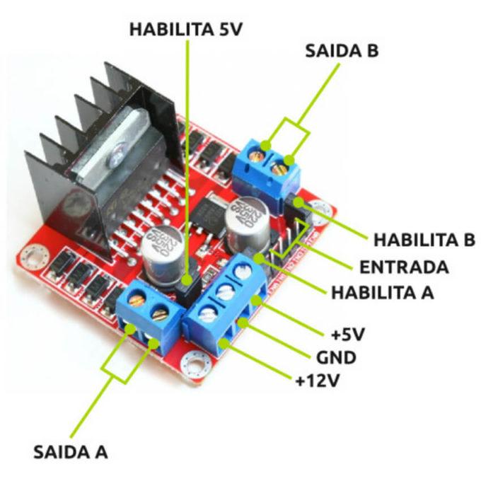 Driver Motor Ponte H L298N