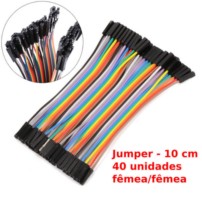 Jumper femea/femea 40 x unidades 10cm