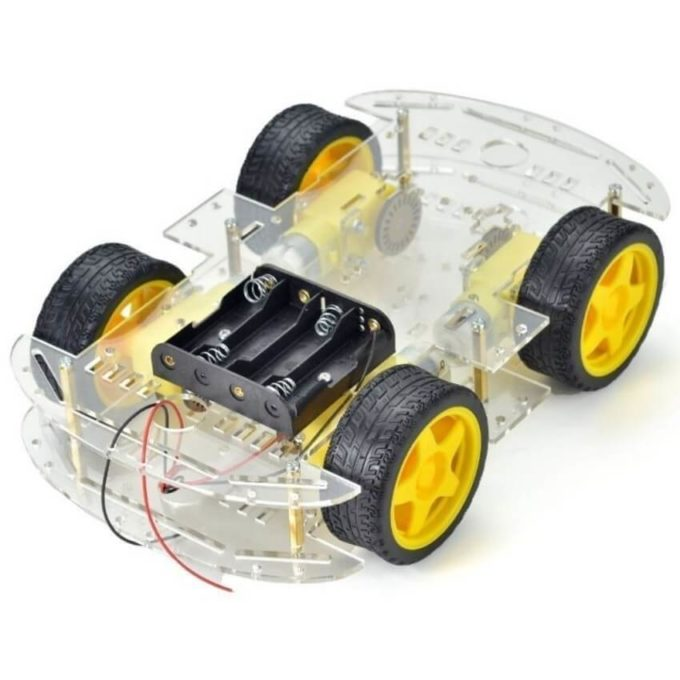 Kit Chassi 4WD Robô para Arduino