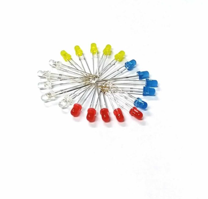 Kit 20 leds 3mm – Coloridos