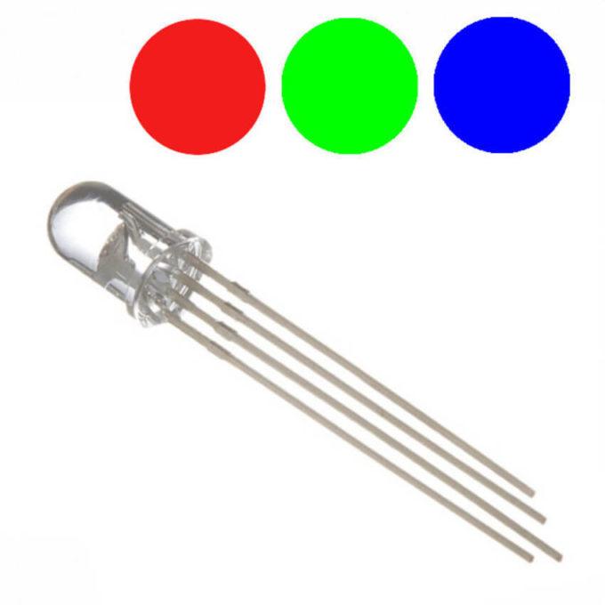 Led RGB 5mm Brilhante - Anodo