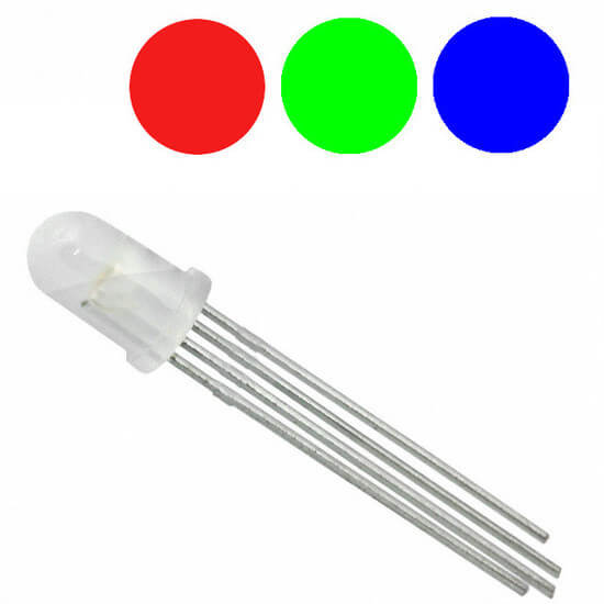 Led RGB 5mm Difuso - Catodo