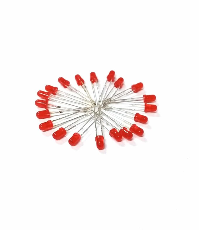 Kit 20 leds 3mm – Vermelho