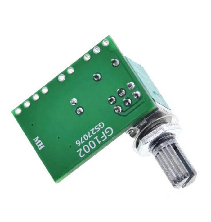 Mini Amplificador de Som PAM8403 Estéreo 2 Canais 3W + 3W com Ajuste