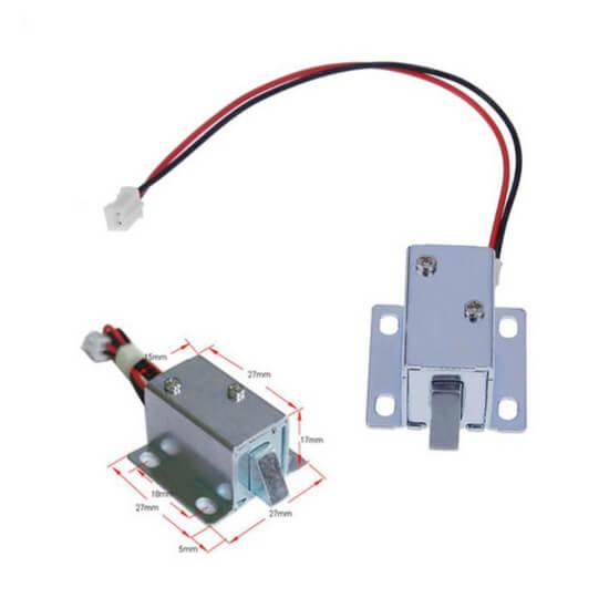 Mini Trava Elétrica Solenoide 6V 1A