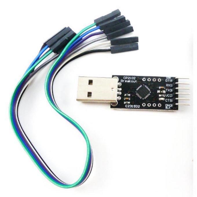 Módulo CP2102 USB para TTL 6 pinos