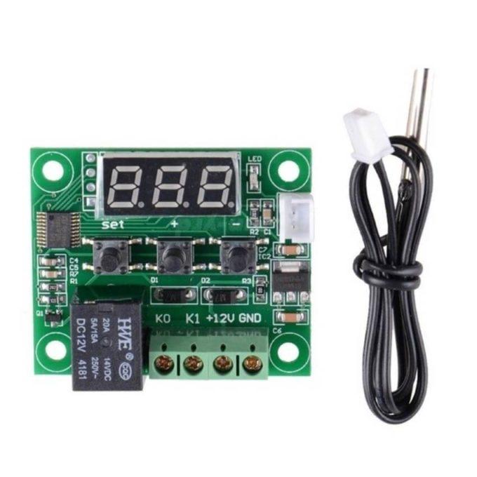 Módulo DC controlador de termostato e temperatura W1209