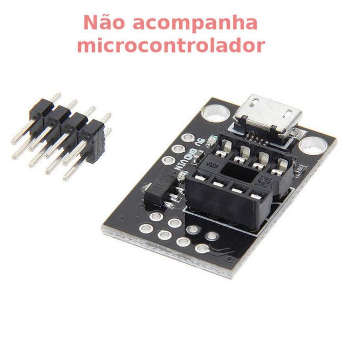 Módulo para desenvolvimento Attiny25-45-85 com Micro USB