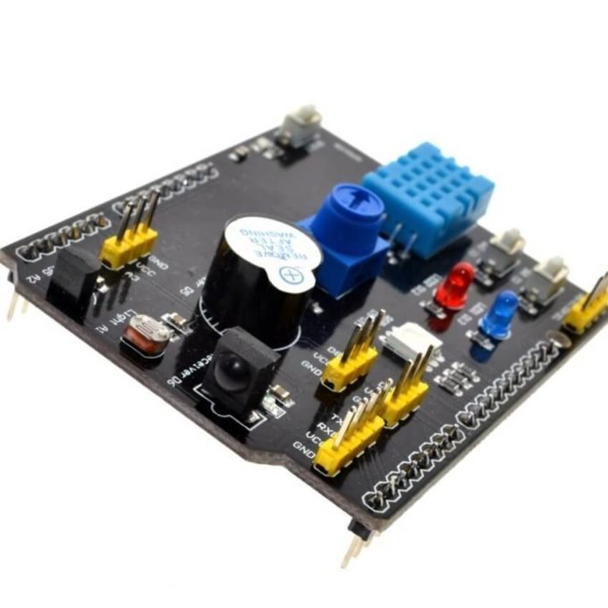 Placa shield multifunções com sensores e I/Os