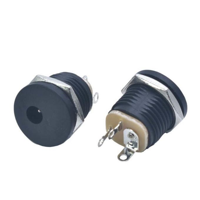 Plug Jack J4 DC-022 - Femea 2,1mm com Rosca