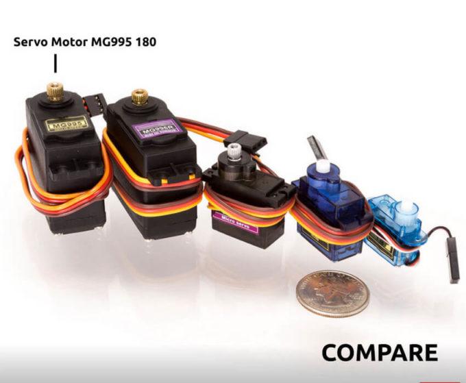 Servo Motor MG995 360º - Engrenagens Metálicas