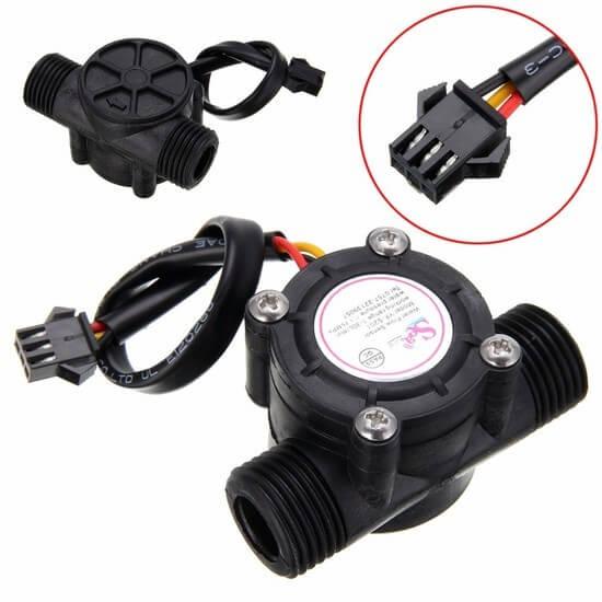 Sensor de Fluxo e Vazão de Água 1/2 - YF-S201