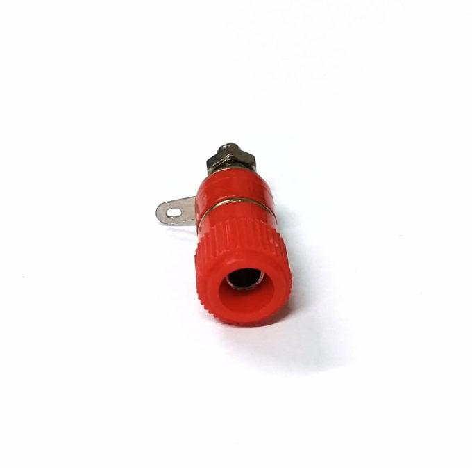 Borne P/ Caixa Acústica 11mmx33mm Vermelho