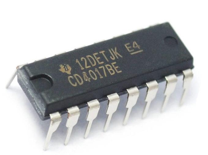 CI CD4017BE Contador