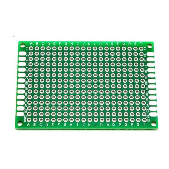 Placa de Circuito Impresso Ilhada de Fibra de Vidro - 5x7 cm