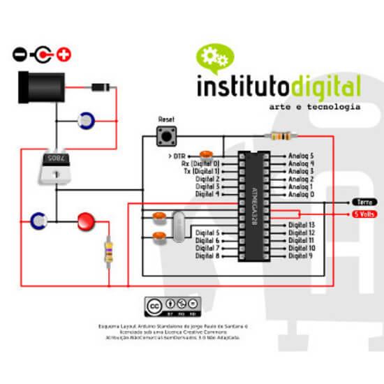 Kit Standalone Arduino - 15 Componentes (com Borne KRE)