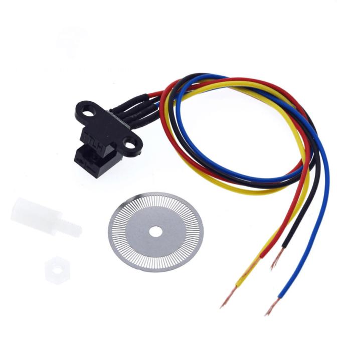 Sensor de Velocidade Fotoelétrico com Encoder