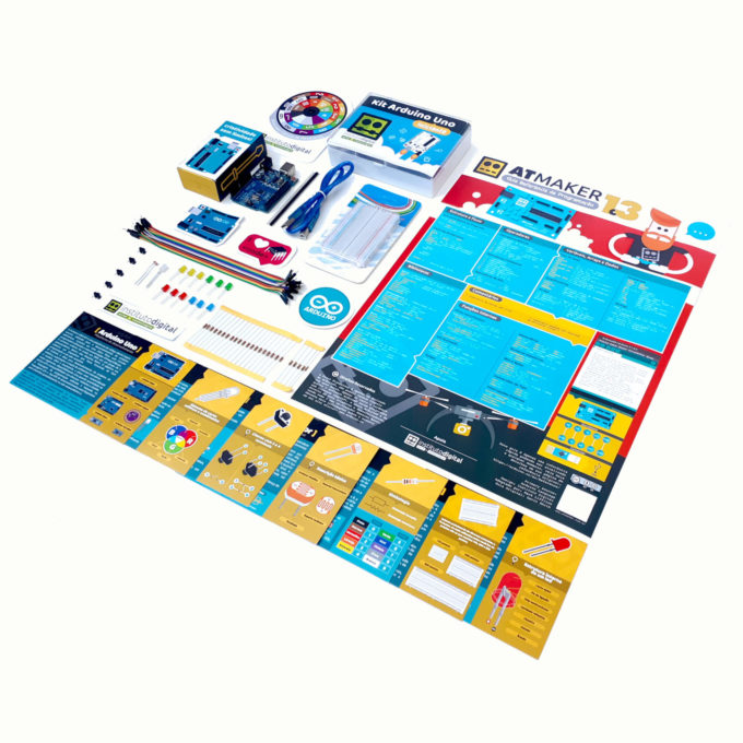 Kit Arduino Uno Iniciante 1 + Cards Explicativos