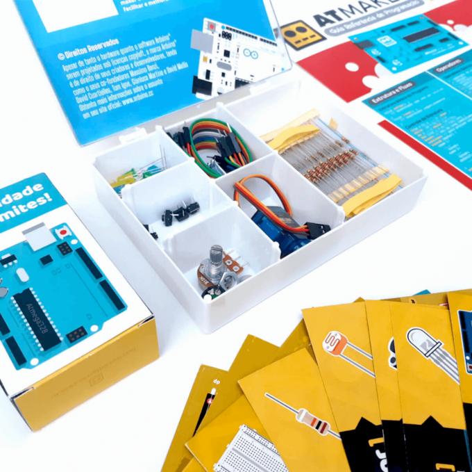 Kit Arduino UNO 2 Iniciante com Cards Explicativos