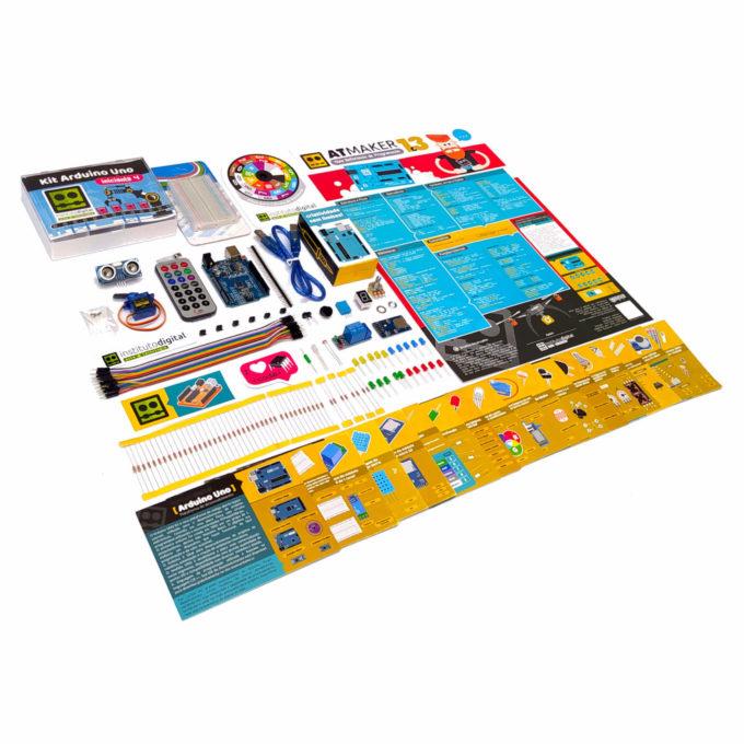 Kit Arduino Uno 4 Iniciante com Cards Explicativos