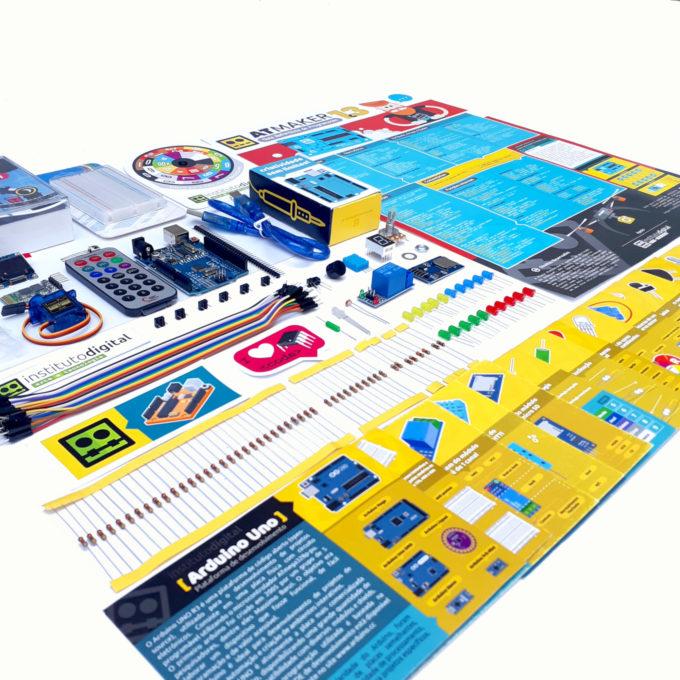 Kit Arduino Uno 5 Iniciante com Cards Explicativos