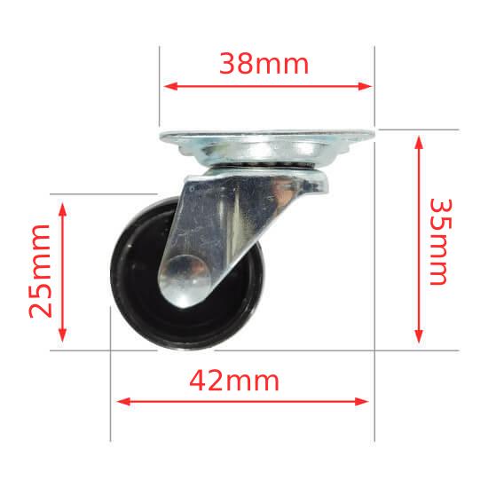Rodízio Giratório 25mm Roda Boba