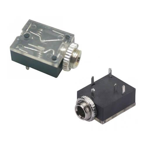 Conector Jack J2 Estéreo com Rosca - PCI- PJ-324A